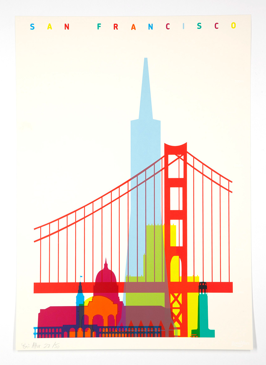 Shapes Of Cities Screenprints Yoni Alter