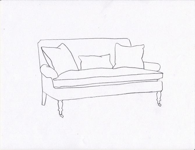 Custom sofa design fawn for Sofa design sketch